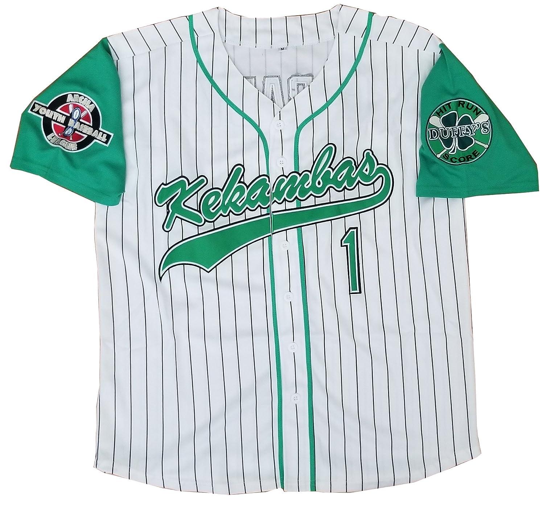 b64ab627b Amazon.com  Kooy G-Baby Jarius Evans  1 Kekambas Hardball Baseball Jersey  Movie Men  Clothing