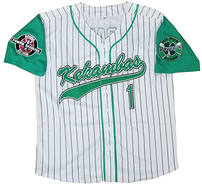 the best attitude 27a01 e4f6b G-Baby Jarius Evans #1 Kekambas Hardball Baseball Jersey Movie Men
