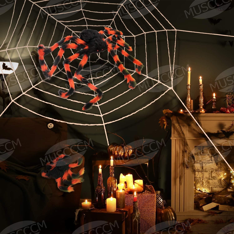 Halloween Toalla de BAR Tapete Negro Cobweb Araña Diseño Fiesta Decoración Miedo