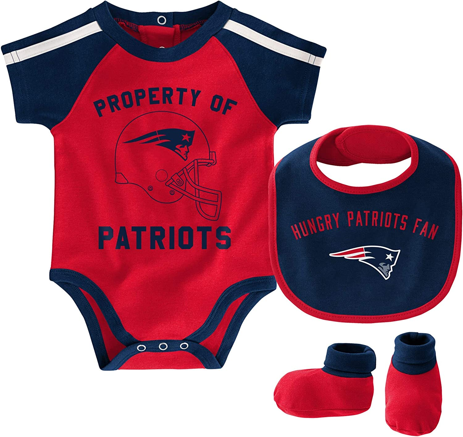 Outerstuff NFL Newborn Infants Tackle Creeper Bib Bootie Bodysuit Set