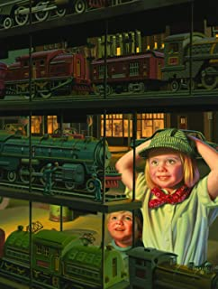 product image for SUNSOUT INC The Train Shop Window 500pc Jigsaw Puzzle by Bob Byerley