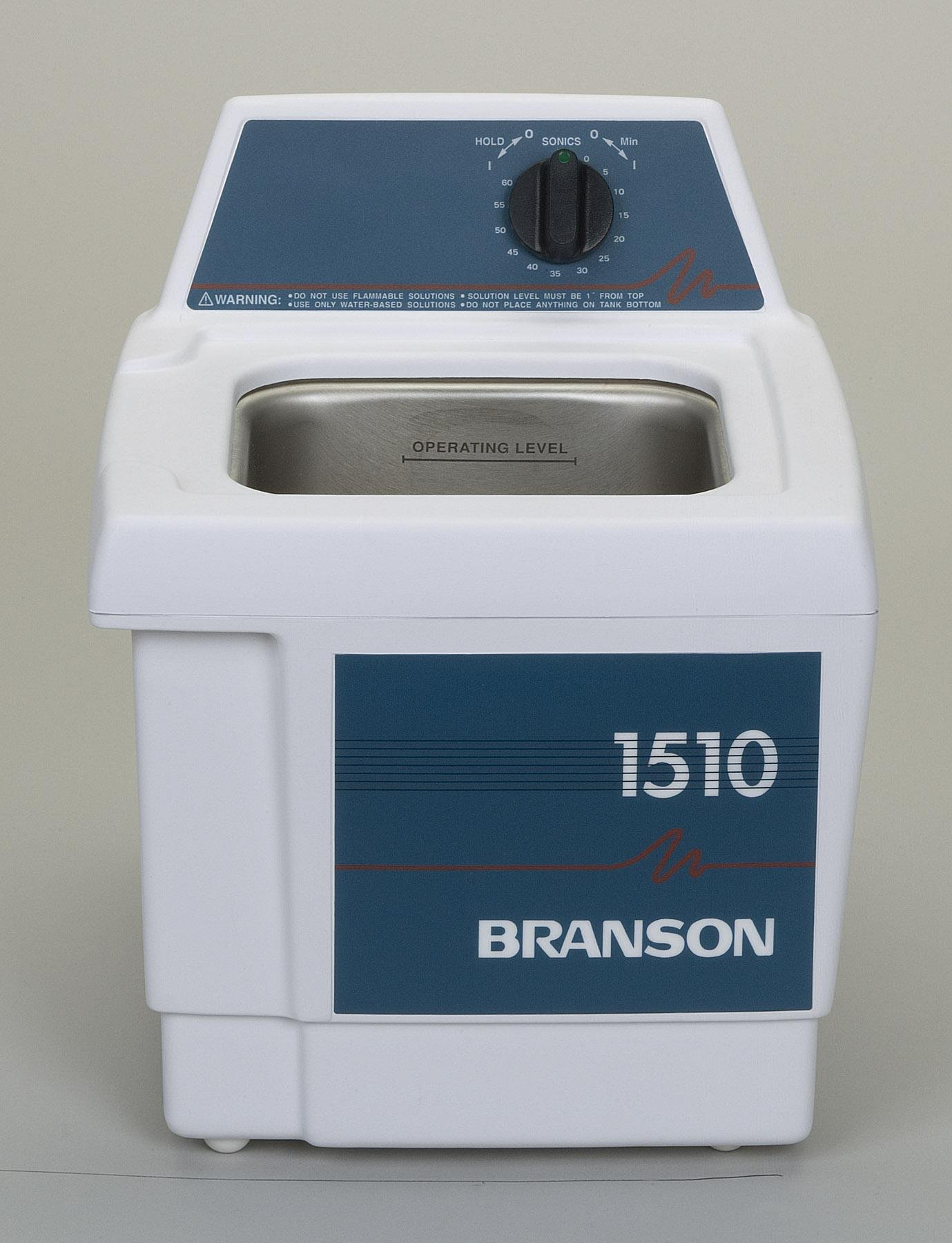 Bransonic B1510 Mechanical Timer and Heater Ultrasonic Cleaner With 0.5 Gallon Tank