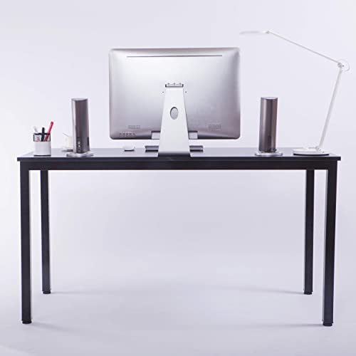 Computer Desk 55 Fancasa Modern Minimalist Study Writing Table with Storage for Home Office Black