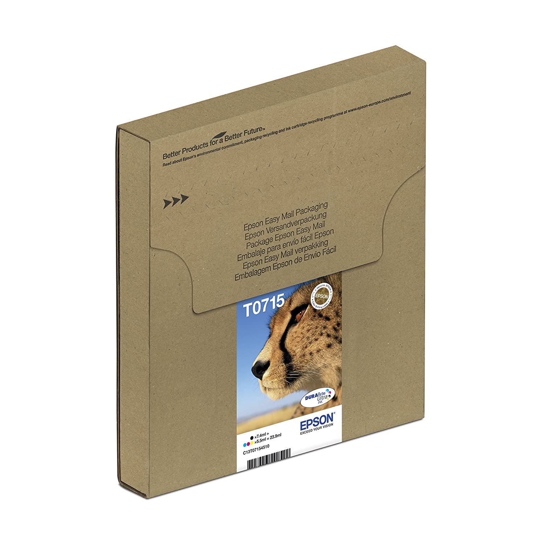 Epson Cheetah T0715 Durabrite Ultra Ink Easy Mail Cartridges Pack Tinta Printer L Series Original Magenta Of 4 Genuine Office Products