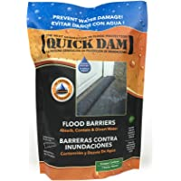 Quick Dam QD65-1 Water Activated Flood Barrier- 5 Feet-1/Pack, 5-ft, Black