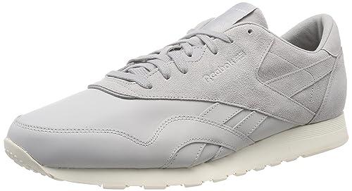 Reebok Classic Nylon As, Zapatillas para Hombre, Gris (Skull Grey/Stark Grey/Chalk 000), 41 EU