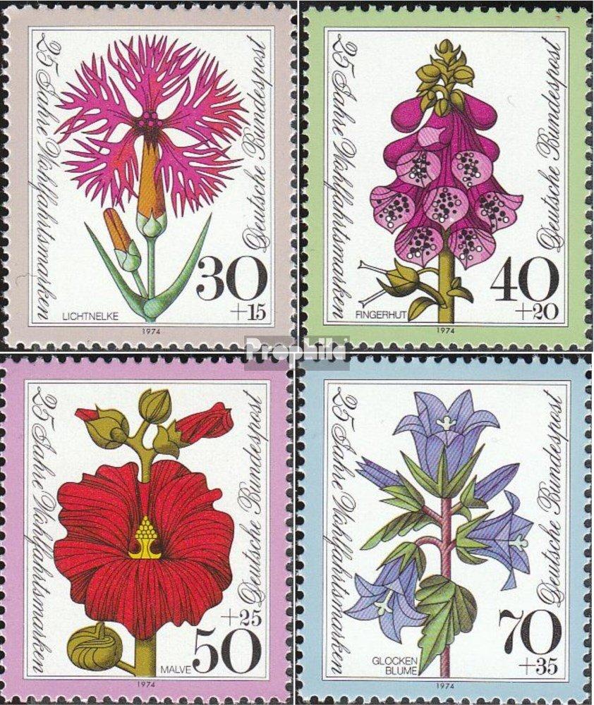 Prophila Collection BRD Pflanzen 1974 Wohlfahrtsmarken 818-821 BR.Deutschland kompl.Ausgabe Briefmarken f/ür Sammler