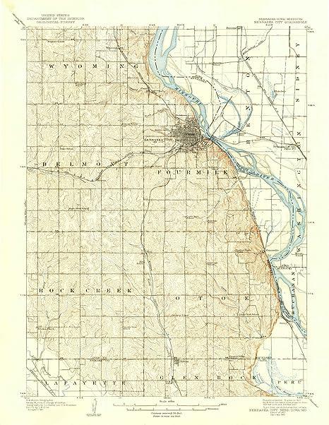 Amazon Com Yellowmaps Nebraska City Ne Topo Map 1 62500 Scale 15
