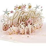 Hallmark Signature Paper Wonder Pop Up Birthday Card or Congratulations Card for Women (Cheers) (1299RZW1078)