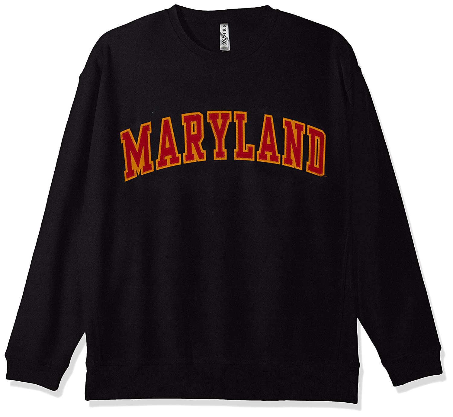 Ouray Sportswear NCAA Maryland Terrapins Mens Legacy DLX Crew Sweatshirt Black X-Large