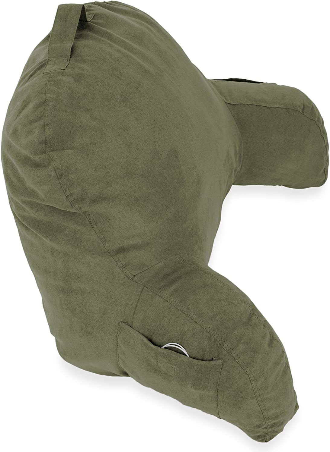 Bedrest Pillow Bed Pillow For Sitting Up Bed Rest Lounger Makes A Comfy And Therapeutic Cuddle Buddy Black Microsuede Bed Rest Reading Pillow /& Support Bed Backrest Pillow With Arms