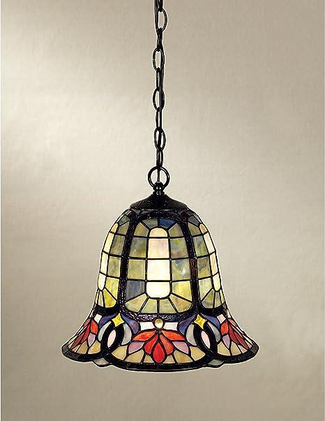 Quoizel Tf1737vb Hyacinth Tiffany Mini Pendant Lighting 1 Light 150 Watts Vintage Bronze 12 H X 12 W