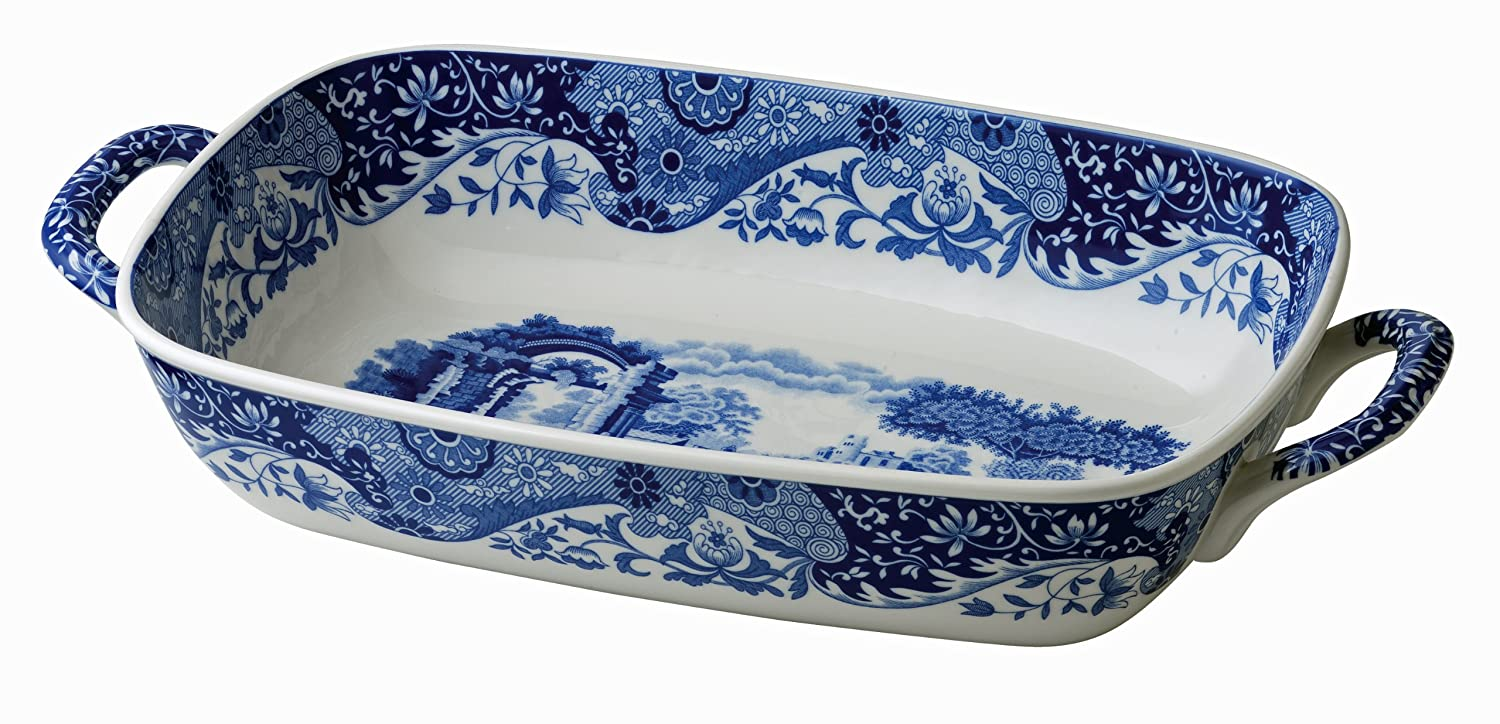 Spode Blue Italian Handled Serving Dish | amazon.com