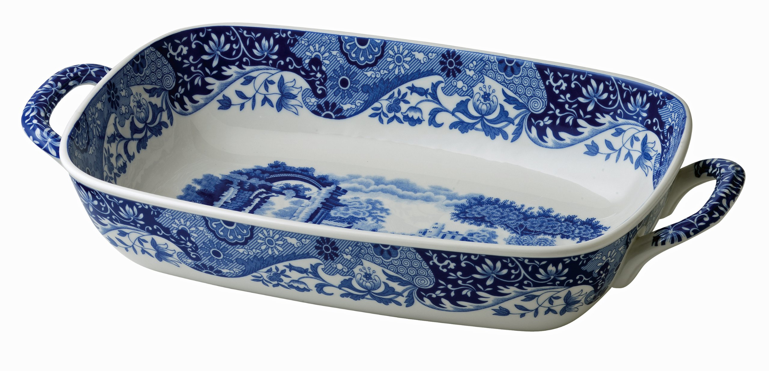 Spode Blue Italian Handled Serving Dish