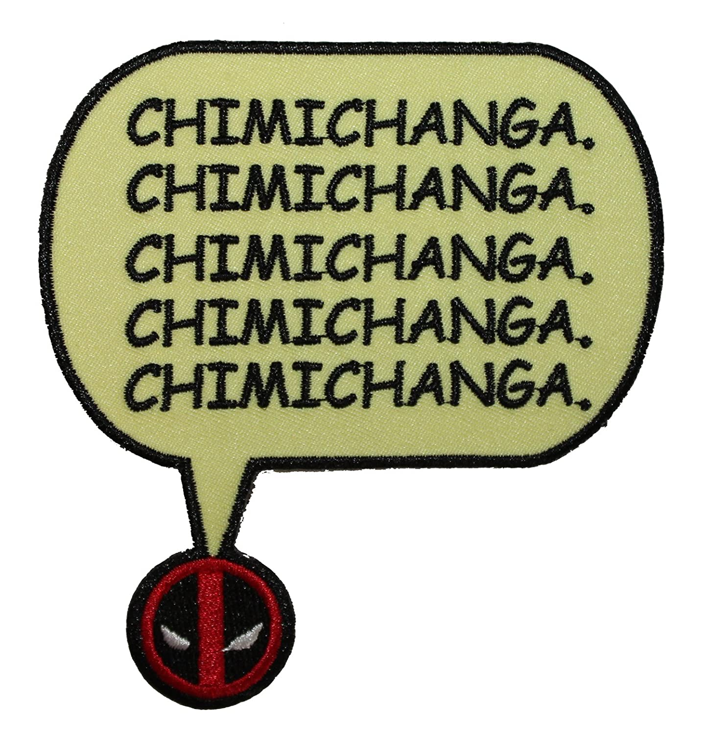 Marvel Extreme Deadpool Chimichanga PATCH toppa - Officially Licensed Original Artwork, 3.5 x 3.8, Iron-On / Sew-On Embroidered Patch 3.5 x 3.8 P-MVL-0029