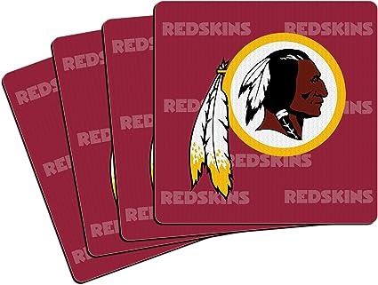 NFL Washington Redskins Vinyl Coaster Set Pack of 4