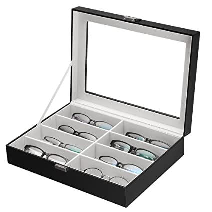 Amazoncom SONGMICS 8 Slot Eyeglasses Eyewear Organizer Jewelry