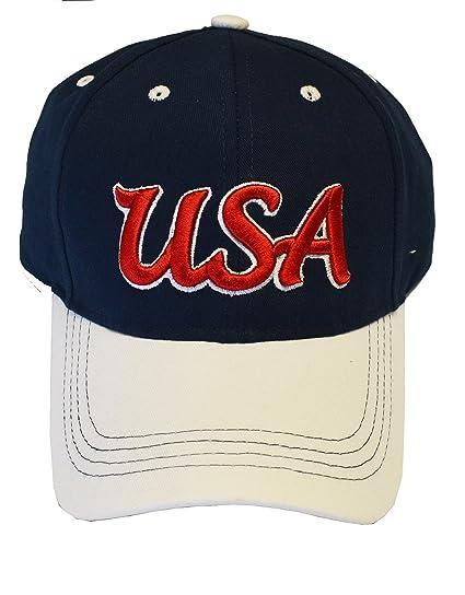 5d7cc7725a3 USA Cap Adjustable Hat Official Football Soccer Merchandise USA (NAVY C1Q12)
