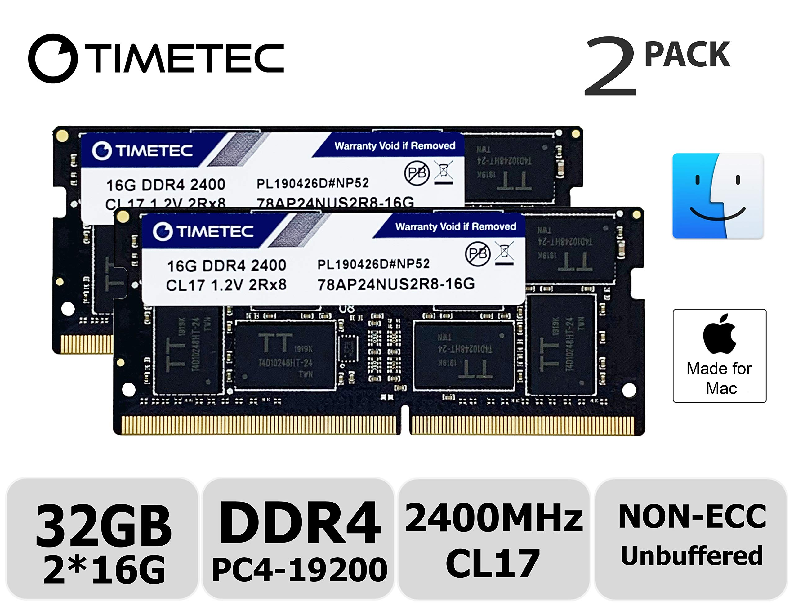 Memoria Ram 32gb Timetec Hynix Ic Kit(2x16gb) Compatible Para Apple 2017 iMac 27-inch W/retina 5k Display 2017 iMac 21.5