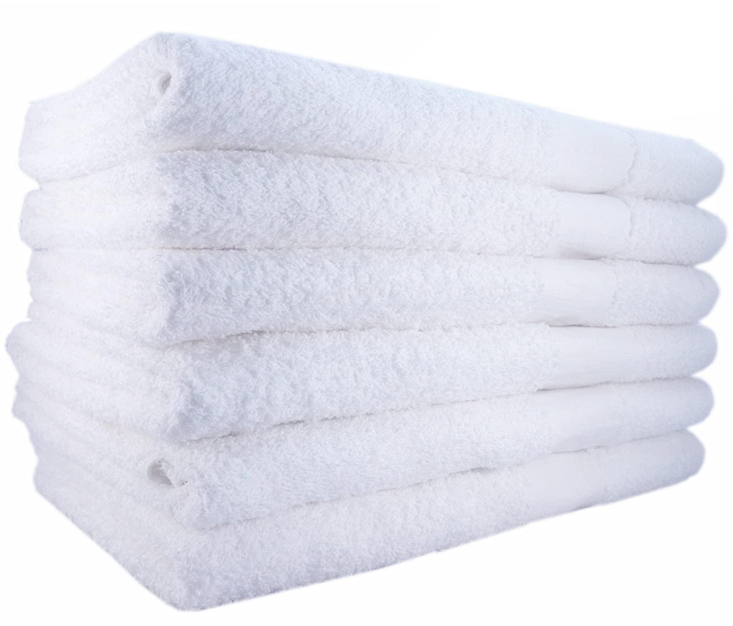 Utopia Towels Hotel-Spa-Pool-Gym Cotton Hair & Bath Towel – 12 Pack, White, Super Soft, Easy Care, Ringspun Cotton for Maximum Softness and Absorbency (22x 44) - by UT1222x44