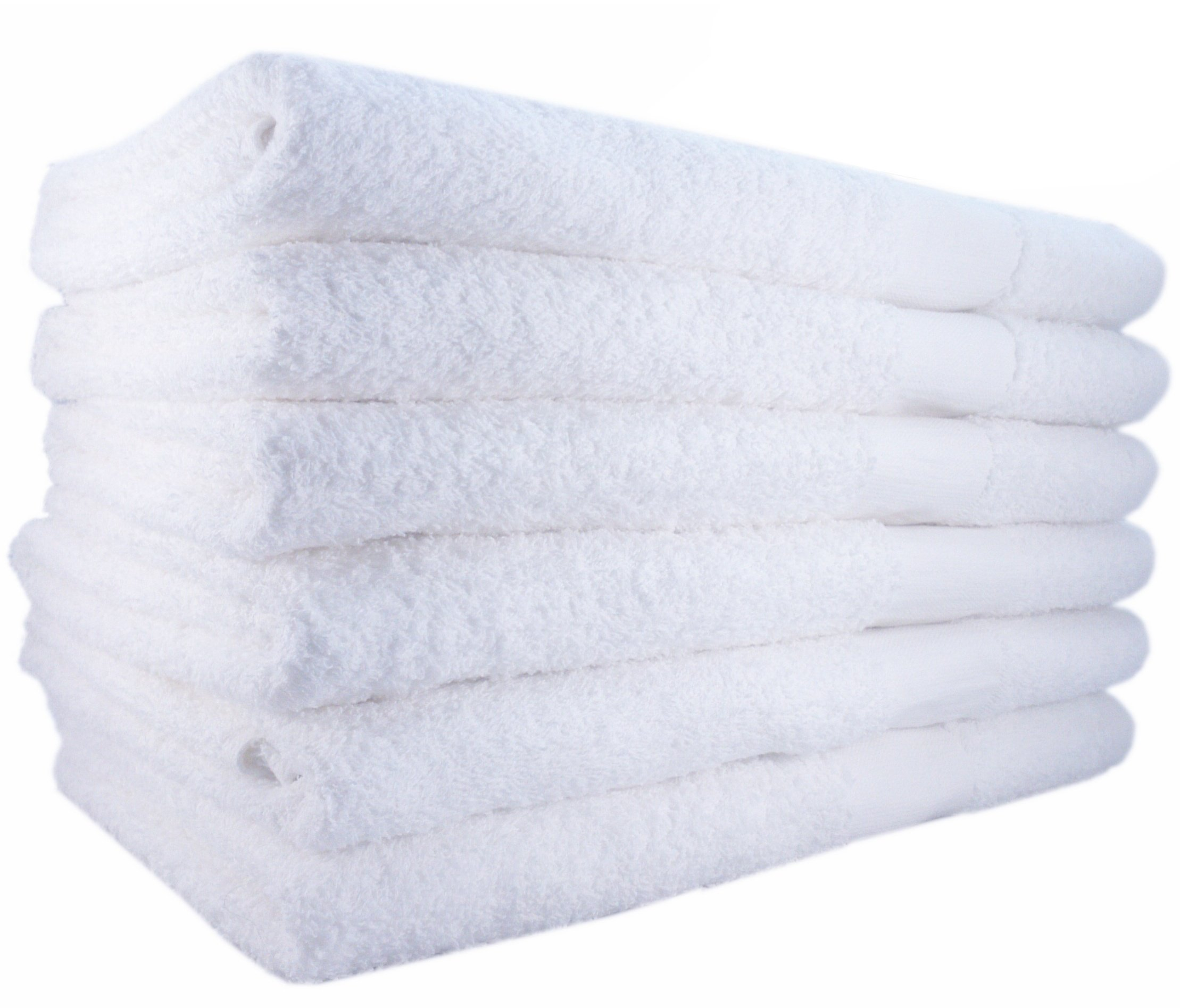 Hotel-Spa-Pool-Gym Cotton Hair & Bath Towel - 12 Pack, White, Super Soft, Easy Care, Ringspun Cotton for Maximum Softness and Absorbency (24 x 48 Inch) - by Utopia Towel