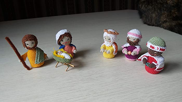 Krippen Figuren Gehaekelt Nativity Scene Figures Crocheted