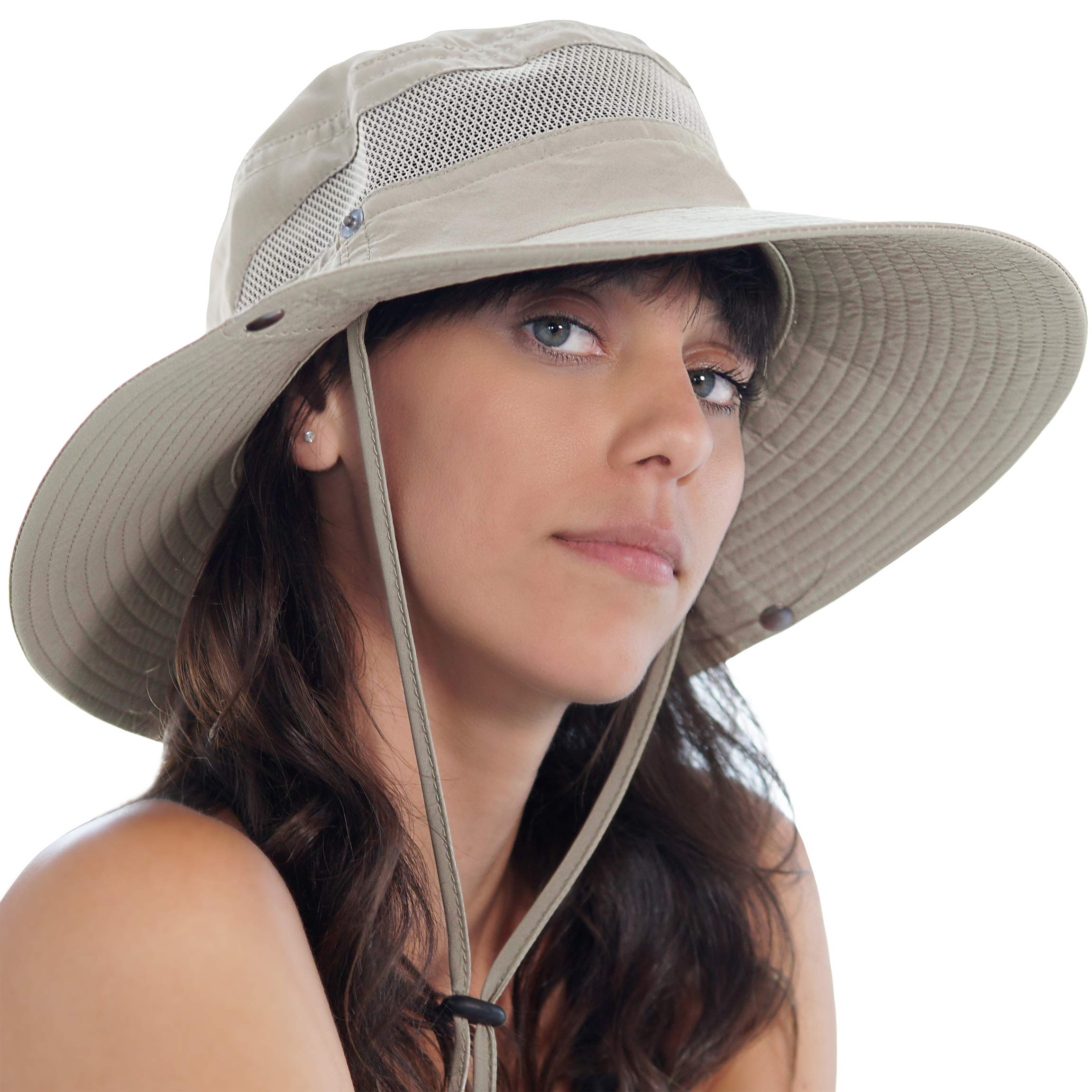 GearTOP Sun Hats for Women and Men | This Summer Cap is Your Best Choice for Sun Protection (Beige Fishing Hat) by GearTOP (Image #7)