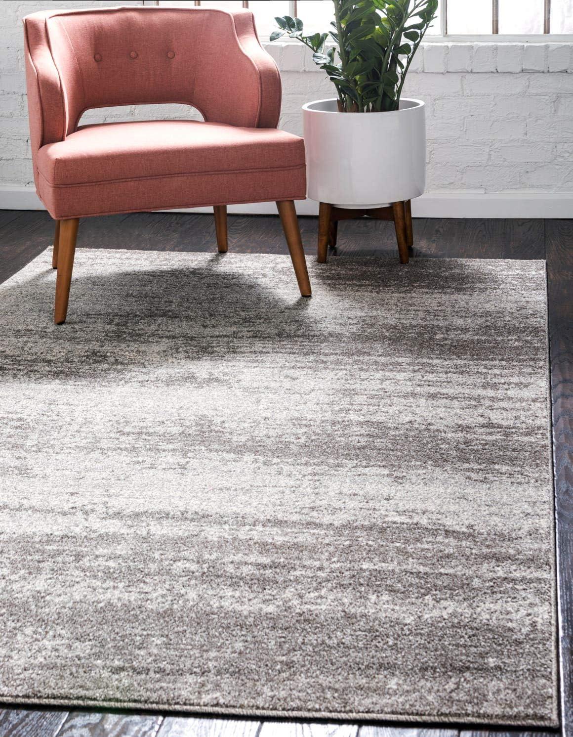 Unique Loom Del Mar Collection Contemporary Transitional Gray Area Rug 10 0 x 13 0