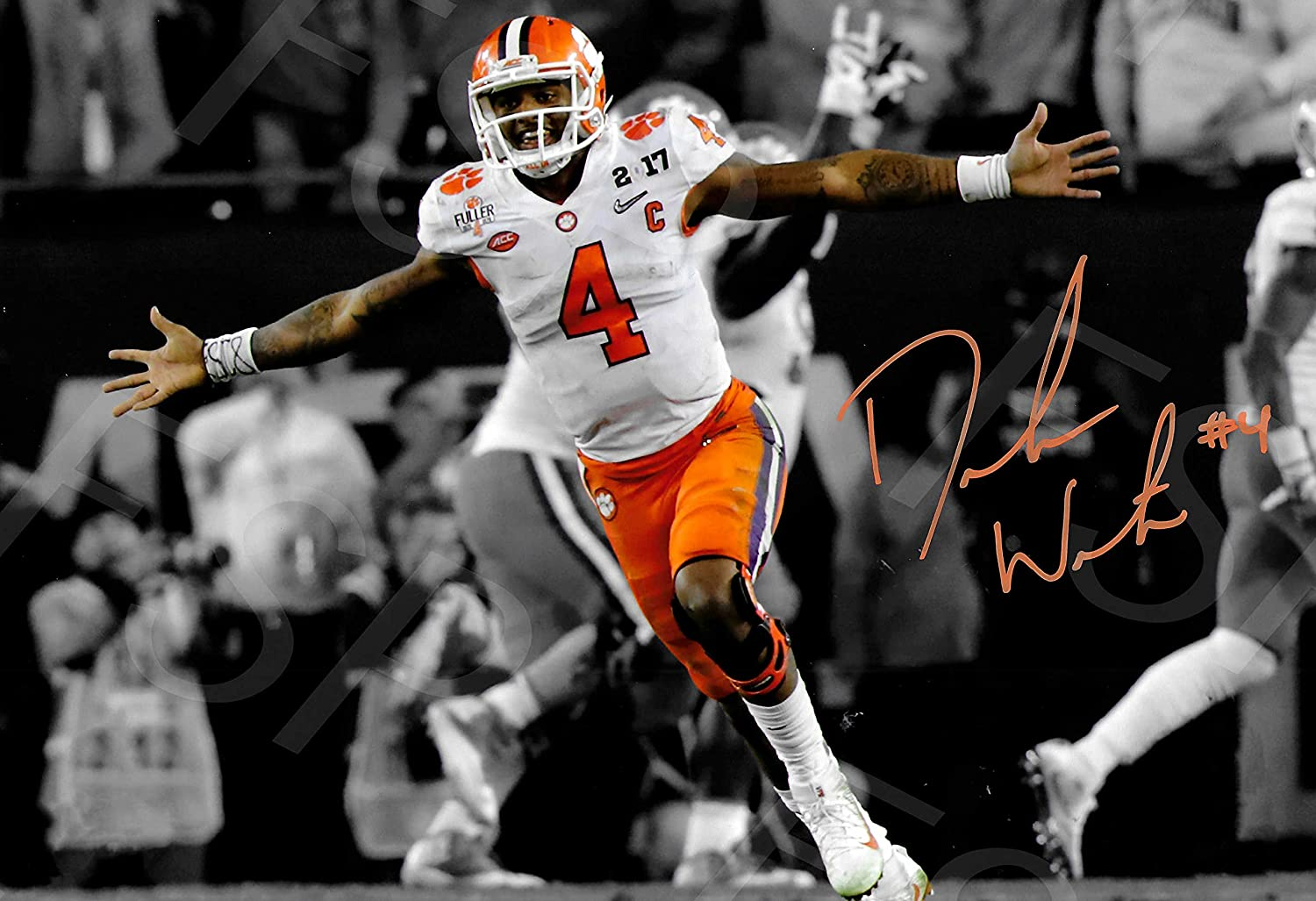 Deshaun Watson Autographレプリカポスター印刷 – Clemson Tigers Watson – – Celebration Tigers B07CN1H9N6, 610アメリカ屋:95b00036 --- hanjindnb.su