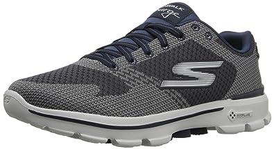 Skechers Men's Go Walk 3 - Solar Charcoal and Navy Nordic Walking Shoes -  11 UK