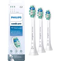 Genuine Philips Sonicare Optimal Plaque Control replacement toothbrush heads, HX9023/65, BrushSync technology, White 3-pk