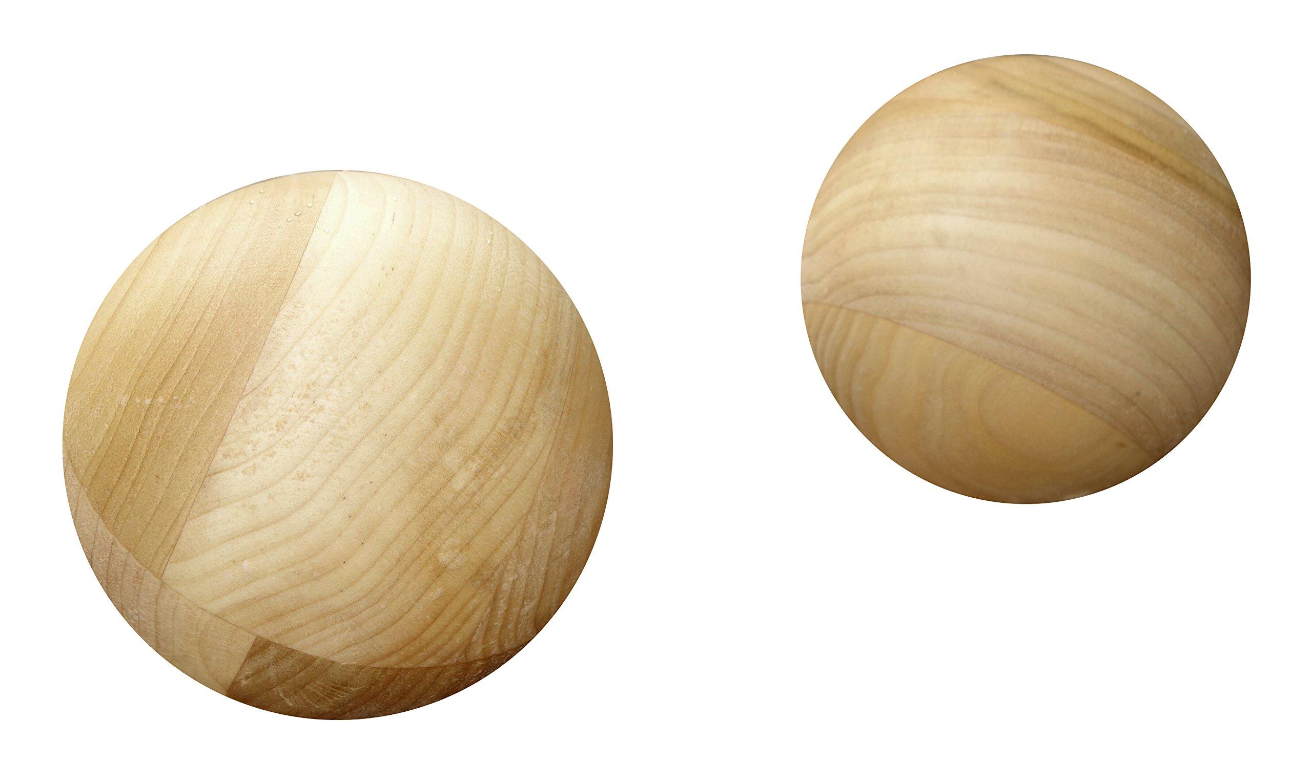 Tai Chi Ball - Starter Balls, Set of 2 (YMAA) 4'', 2-3 lbs, poplar (David-Dorian Ross Ball Workout)