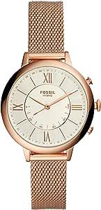 Fossil Smartwatch Híbrido para Mujer de Connected con Correa en Acero Inoxidable FTW5018