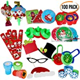 The Twiddlers 100 Pack Christmas Toys, Huge Assortment, Great for Stocking Fillers - Juguetes piñata Relleno Regalo para Navidad Fiesta, cumpleaños