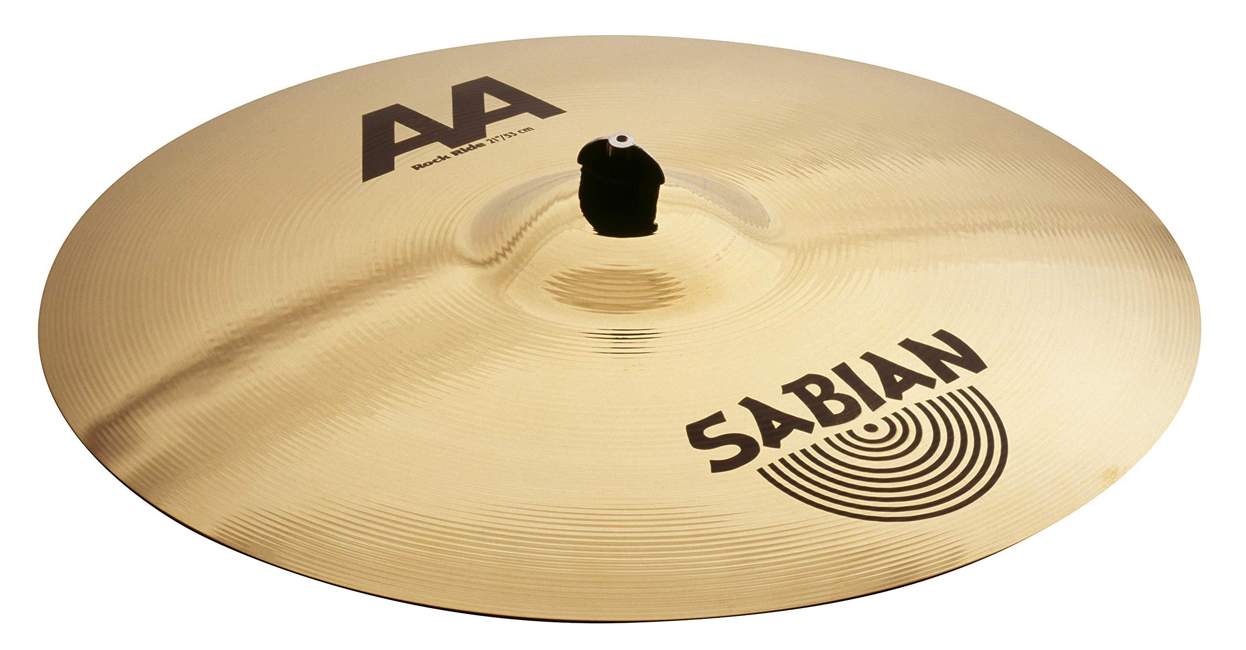 Sabian AA 21'' Rock Ride Cymbal, Brilliant Finish. by Sabian
