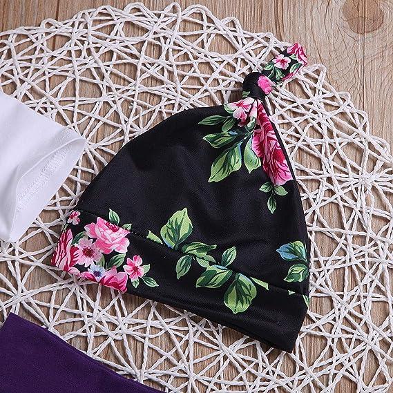 Pantalon Floral Costume de Bandeau 3Pcs Grande Petite Soeur V/êtements Assortis Ensemble Haut /à Manches Longues de Mode