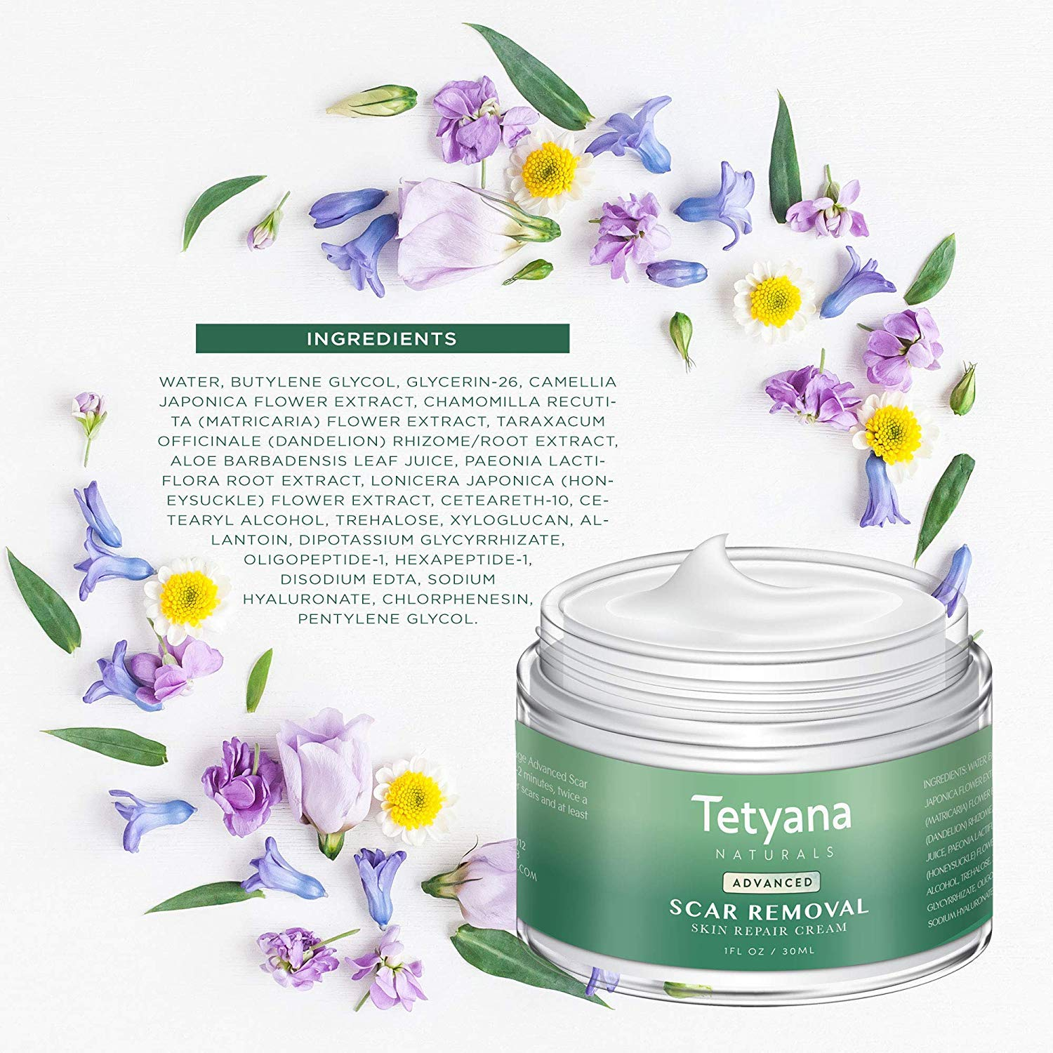 Tetyana naturals Scar Removal with Cream Natural Herbal Extracts Formula for Face & Body Old & New Scars from Cuts Stretch Marks, C-Sections & Surgeries (30ml 1pack) by Neutrogena (Image #6)