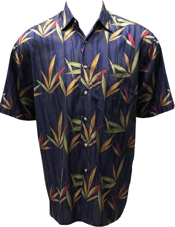 Bamboo Cay Men's Standard-Fit Cotton Tropical Hawaiian Shirt