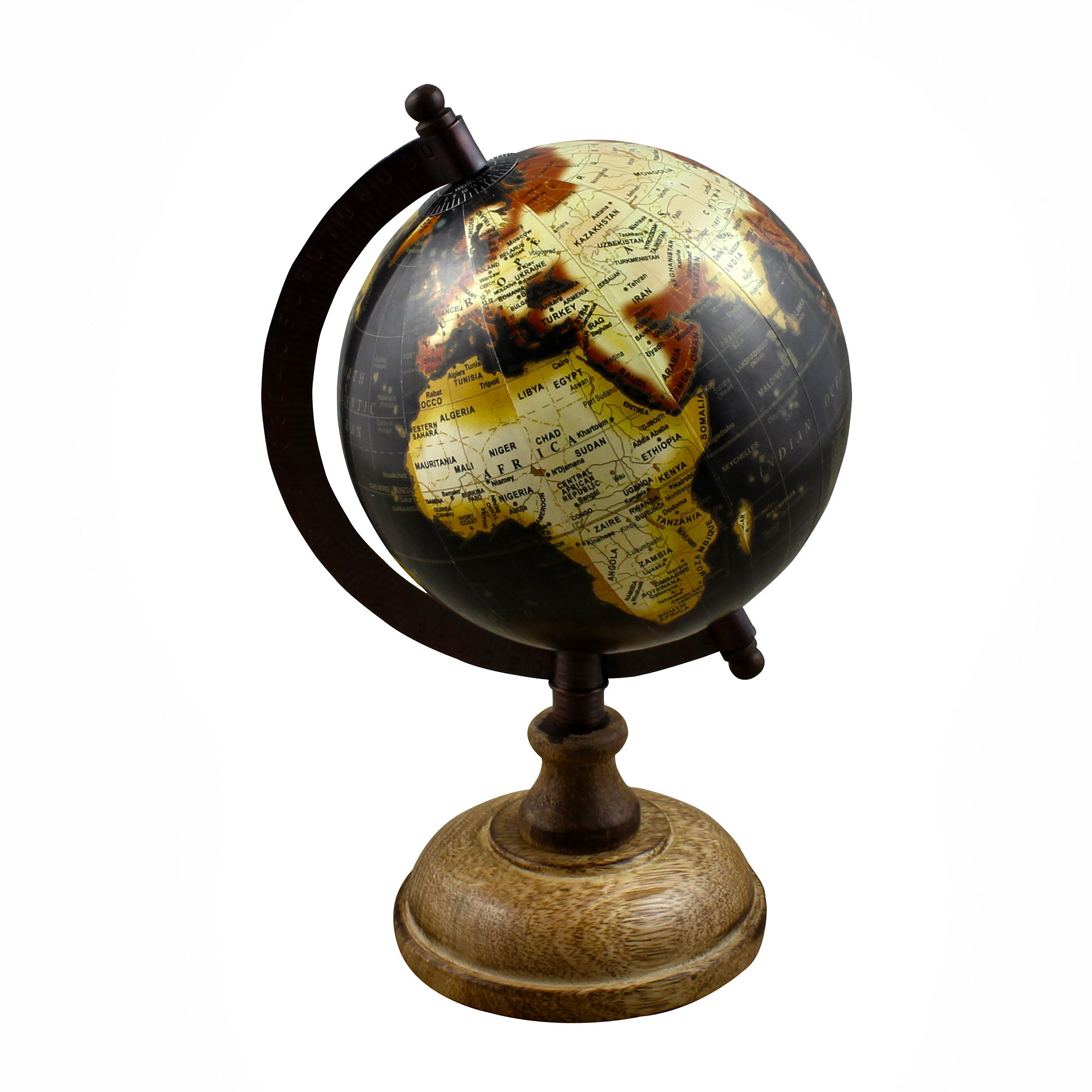 Stock Clearance Sale!! World Globe Earth Map with Stand 9.5 Inches - Perfect for Home Office Desk Decoration