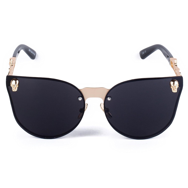 3fe48748f5 Dollger Rimless Skull Design Cat Eye Sunglasses UV400 Protection women cat  eye glasses