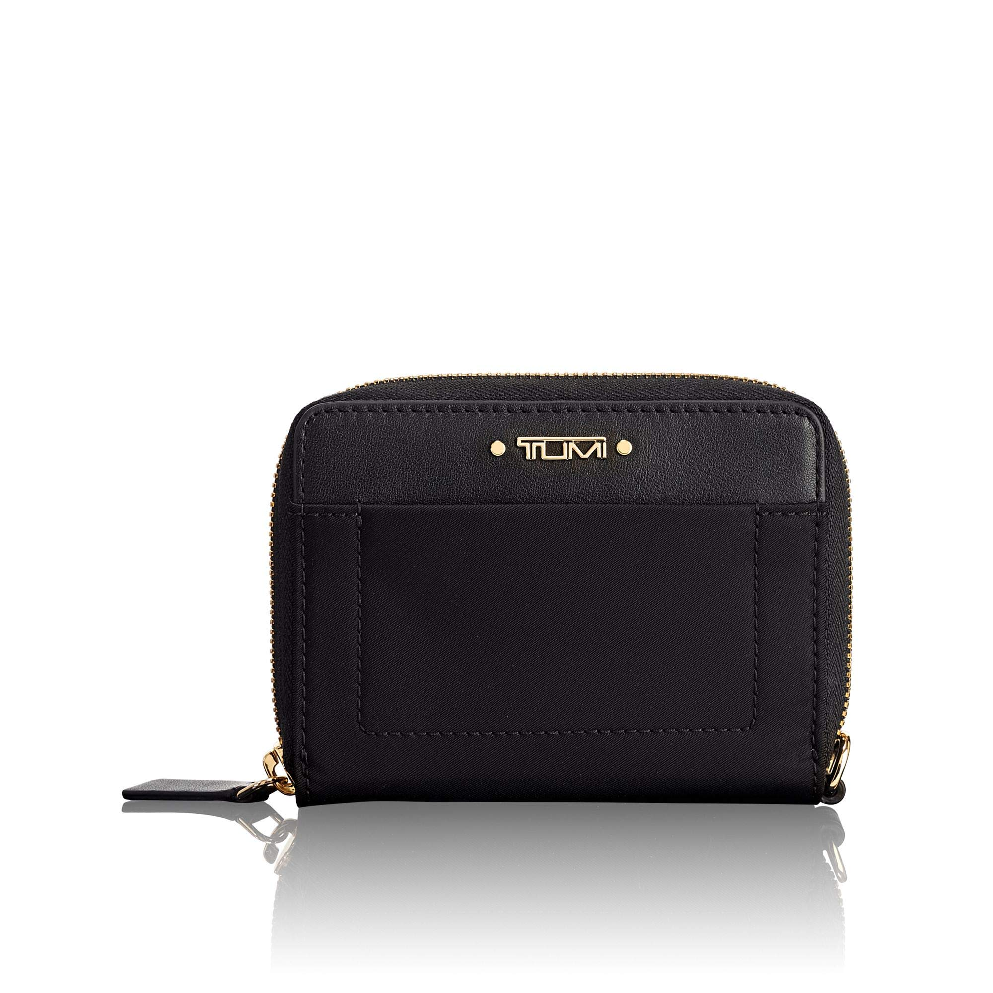 TUMI - Voyageur Tri-Fold Zip-Around Wallet - Compact Card Holder for Women - Black by TUMI
