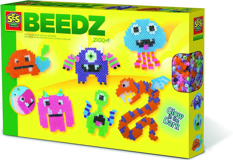 SES CREATIVE Children/'s Beedz Iron-on Beads Mosaic Box Tub 12000 Glitter