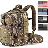 RUPUMPACK Military Tactical Backpack Hydration Backpack by, Army MOLLE Bug Out Bag, Small 3-Day Rucksack for Outdoor Hiking Camping Trekking Hunting School Daypack, 33L