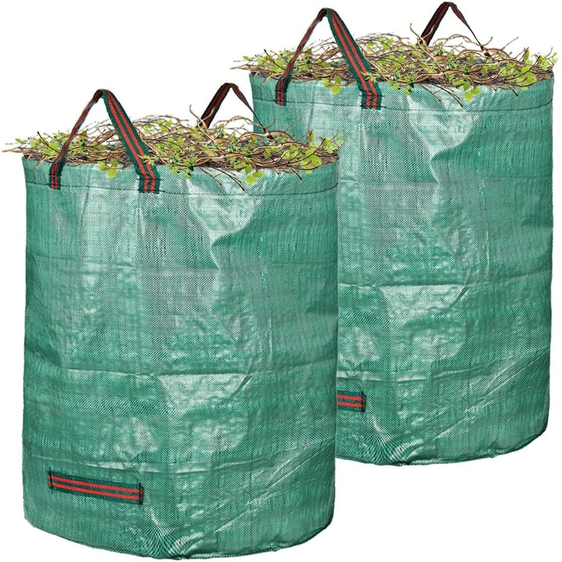 2-Pack Reusable Garden Waste Bags Yard Waste Bags Leaf Waste Bags Deciduous bag (80 Gallon x 2)