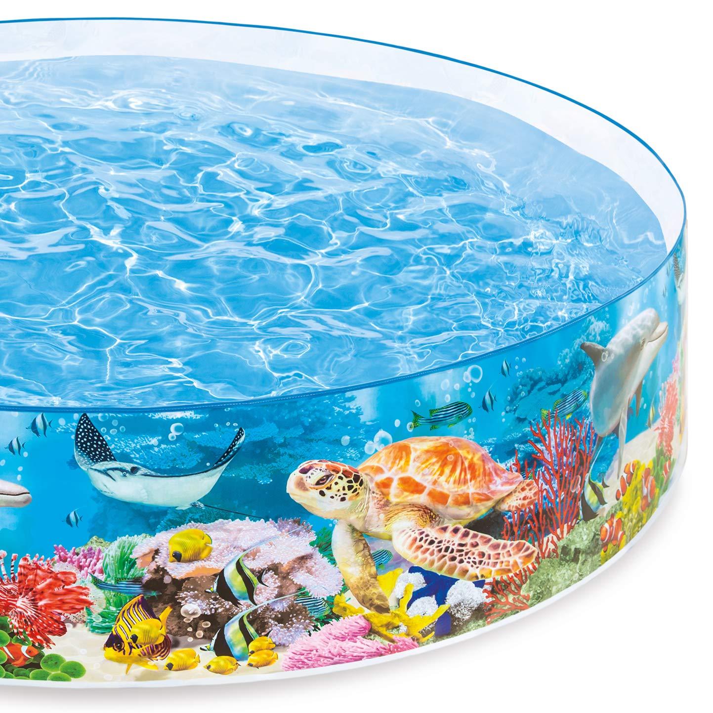 Intex Deep Sea Blue SnapSet Kiddie Swimming Pool by Intex