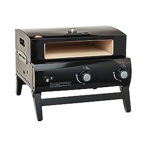 BakerStone O-AJLXX-O-000 Portable Gas Pizza Oven, Black