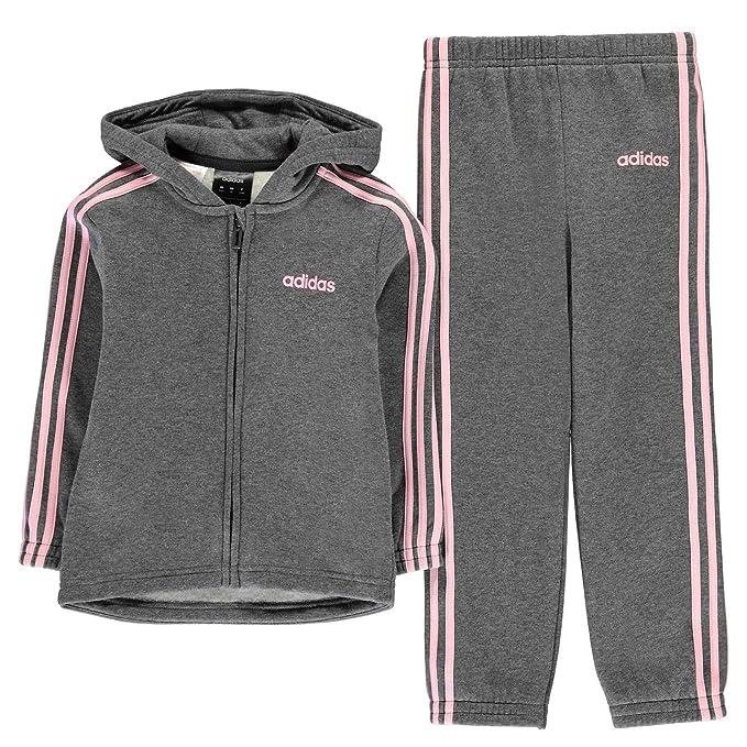 adidas Kids Girls 3S PolySuit InG93 Poly Tracksuit: Amazon