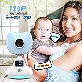 Camera bambino infantile, senza fili 720P video Baby Monitor Sicurezza bambino Digital Video fotocamera con qualità dell'aria monitoraggio della temperatura / Motion Detection / 2 conversazione bidirezionale sistema di registrazione / video per IOS e Android