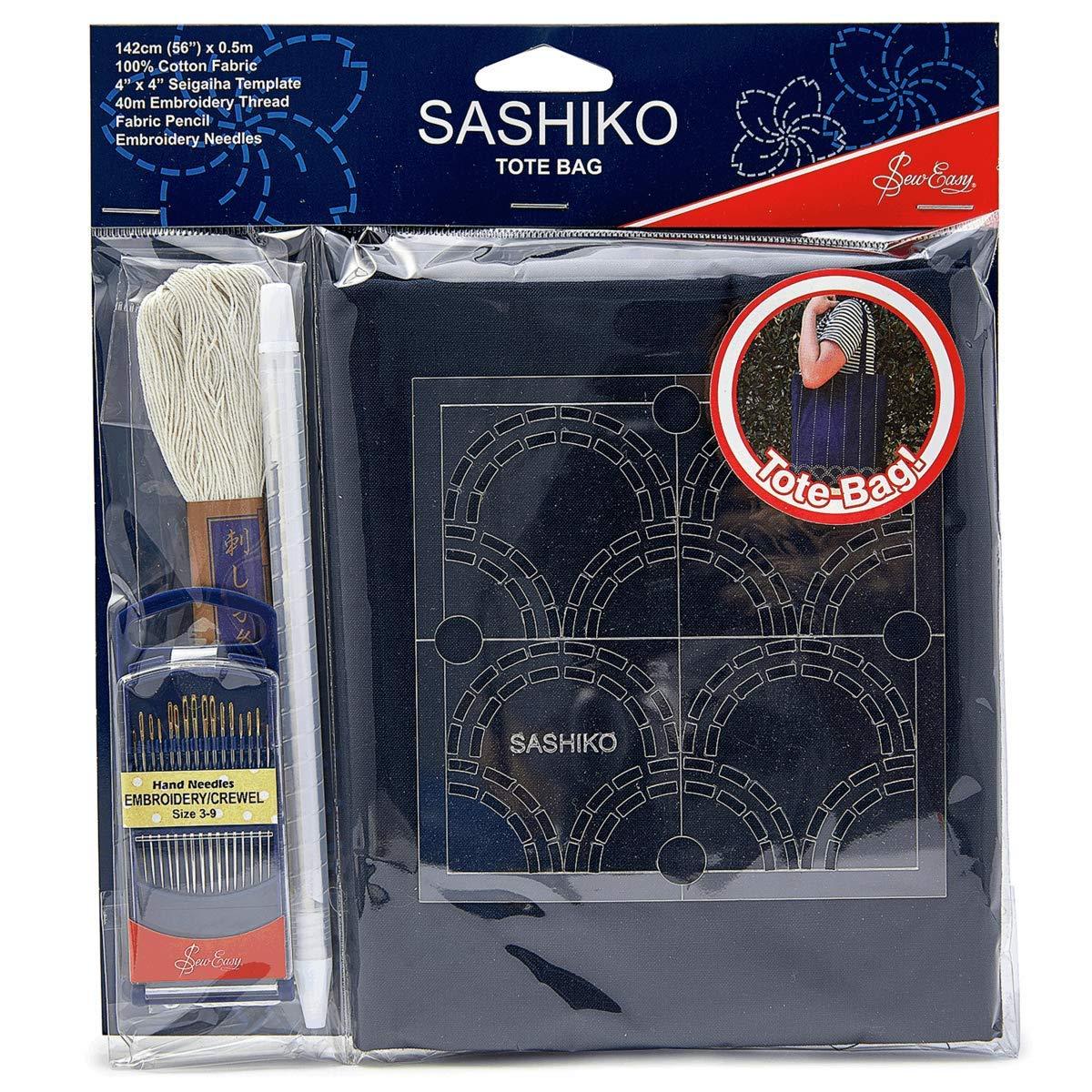 Comprend Tout Pour Rendre Votre Propre Sac Fourre-Tout Coudre Facile Sashiko Diy Kit Sac Fourre-Tout