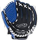 "Rawlings  Players Series Gloves, 10.5"", Right Hand, Blue/Black/Grey"
